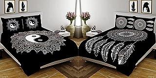 Fecom Combo Long Leaf Pattern 144 TC 90 inch x 108 inch OR 228 CM x 274 CM 100% Cotton Jaipuri Rajasthani Traditional Attr...
