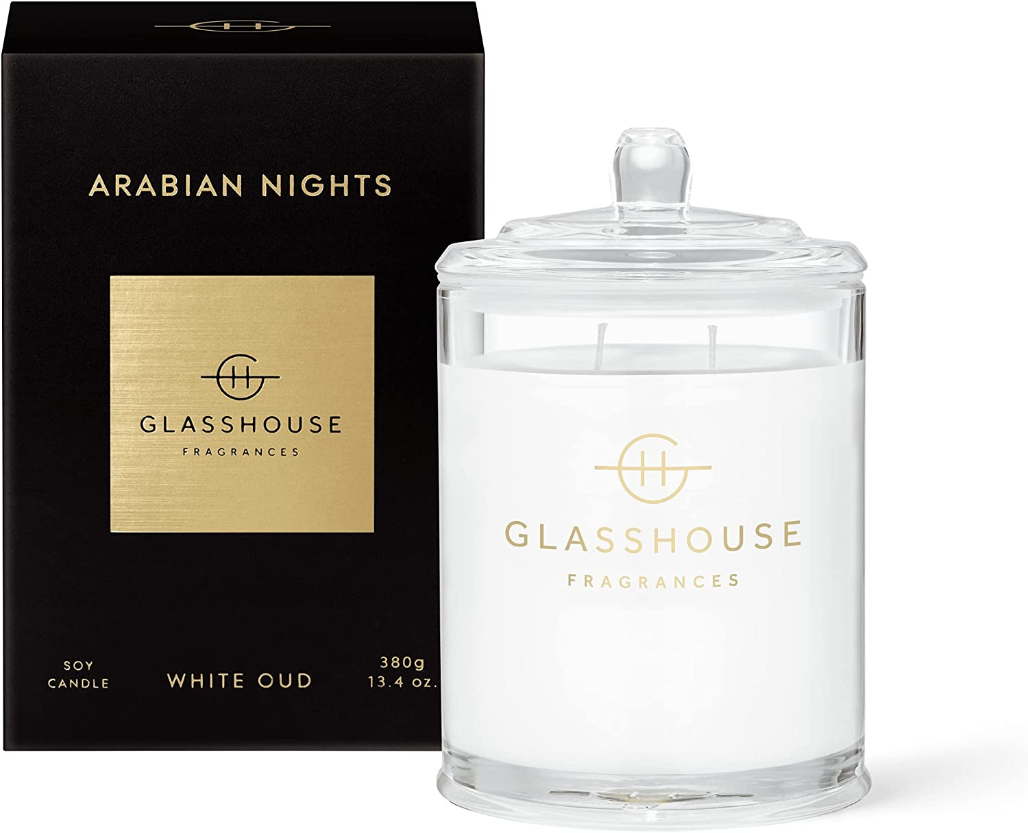 Glasshouse Fragrances Arabian Reservation Nights Triple Max 54% OFF Candle Natu Scented