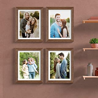 Painting Mantra & Art Street Set of 4 Individual Couple Photo Frame/Wall Hanging for Home Décor - Copper