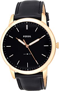 Fossil The Minimalist Men's 3H Black Dial Leather Band Watch - FS5376