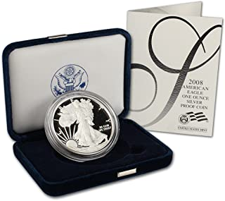 2008 W American Silver Eagle Proof $1 OGP U.S. Mint
