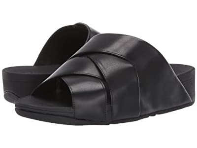 FitFlop Mocca Novaweave Slides (All Black) Women