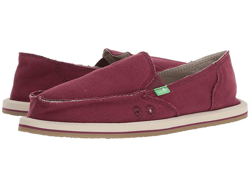 Sanuk Donna Hemp (Burgundy) Women