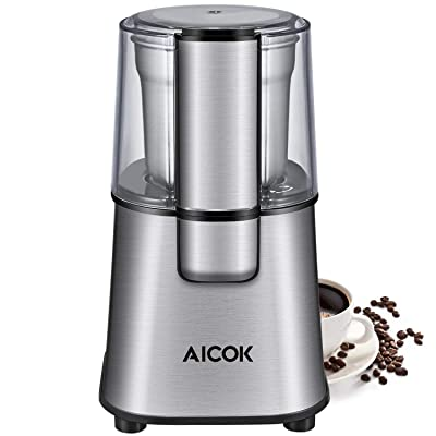 AICOK Coffee Grinder Electric Powerful Blade Co...