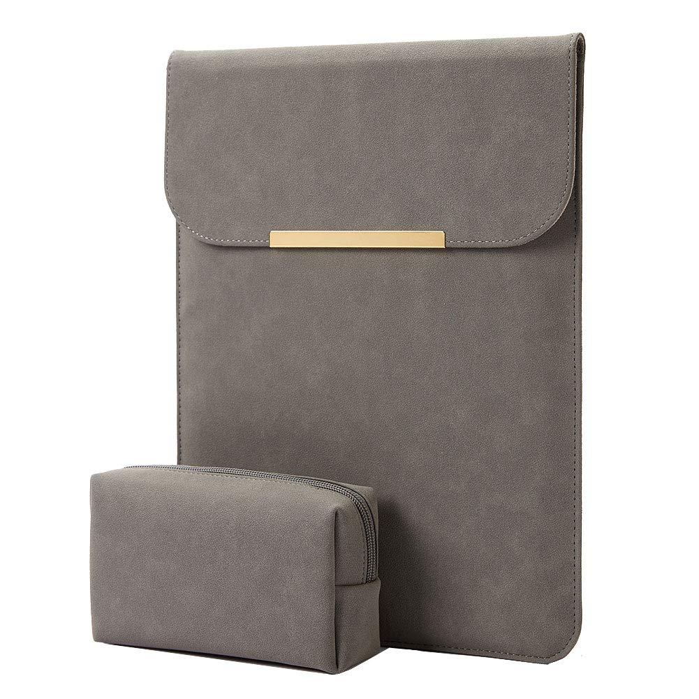 KALIDI Laptop Sleeve MacBook Leather Dark