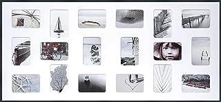 DEHA Tribeca Collage - Marco de fotos (aluminio, 109,2 x 49,5 cm, 18 x 10 x 15 cm), color negro mate