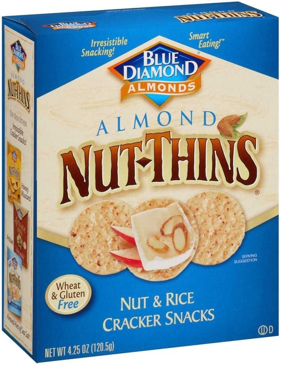 Almond Nut-Thin Crackers 4.25 Ounces 55% OFF Albuquerque Mall 4.25oz 12 Boxes of