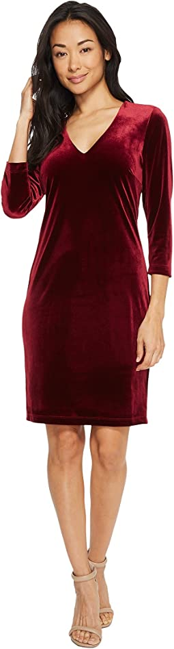 Karen Kane - Velvet V-Neck Sheath Dress