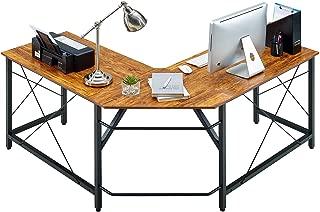 Mr IRONSTONE L-Shaped Desk Vintage Corner Table Computer Desk 59