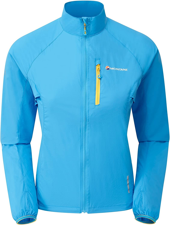 MONTANE Featherlite Trail Womens Windproof Jacket Small Cerulean Blue