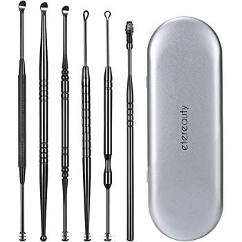 Ear Wax Removal Kit, 7-in-1 Ear Pick Tools Curette Cleaner Reusable Ear Cleaner, Medical Grade Stainless Steel Ear Wax Remover with Storage Box