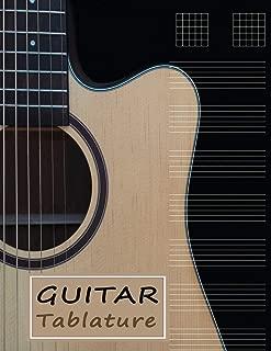 Beginner Guitar Tabs: Journal & Notebook for Guitar Manuscript (Guitar Manuscript Paper)