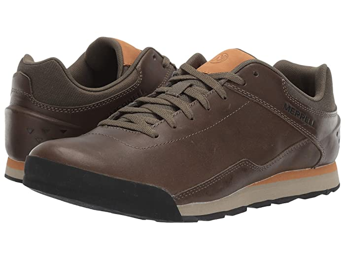 Merrell  Burnt Rocked Leather (Dusty Olive) Mens Shoes
