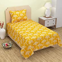 Trendz Home Furnishing 3D Baby Print Single Bedsheet with 1 Pillow Cover -Blue (Yellow)