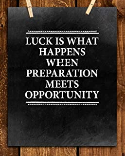 Best luck is when preparation meets opportunity poster Reviews