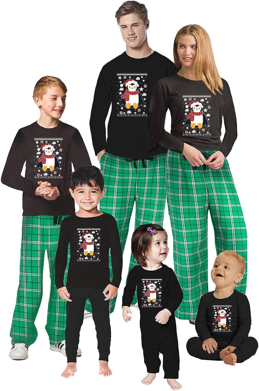 Penguin Sleepwear PJ - Christmas Matching Pajama Sets - Holiday Xmas House Wear Jammies For Family Photo Shoot