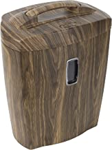 $69 » Shredder for Home or Office with Fashionable Wood Appearance: 10 Sheet, Cross Cut, 5.5 Gallon Waste Bucket, 2 Minute Run T...