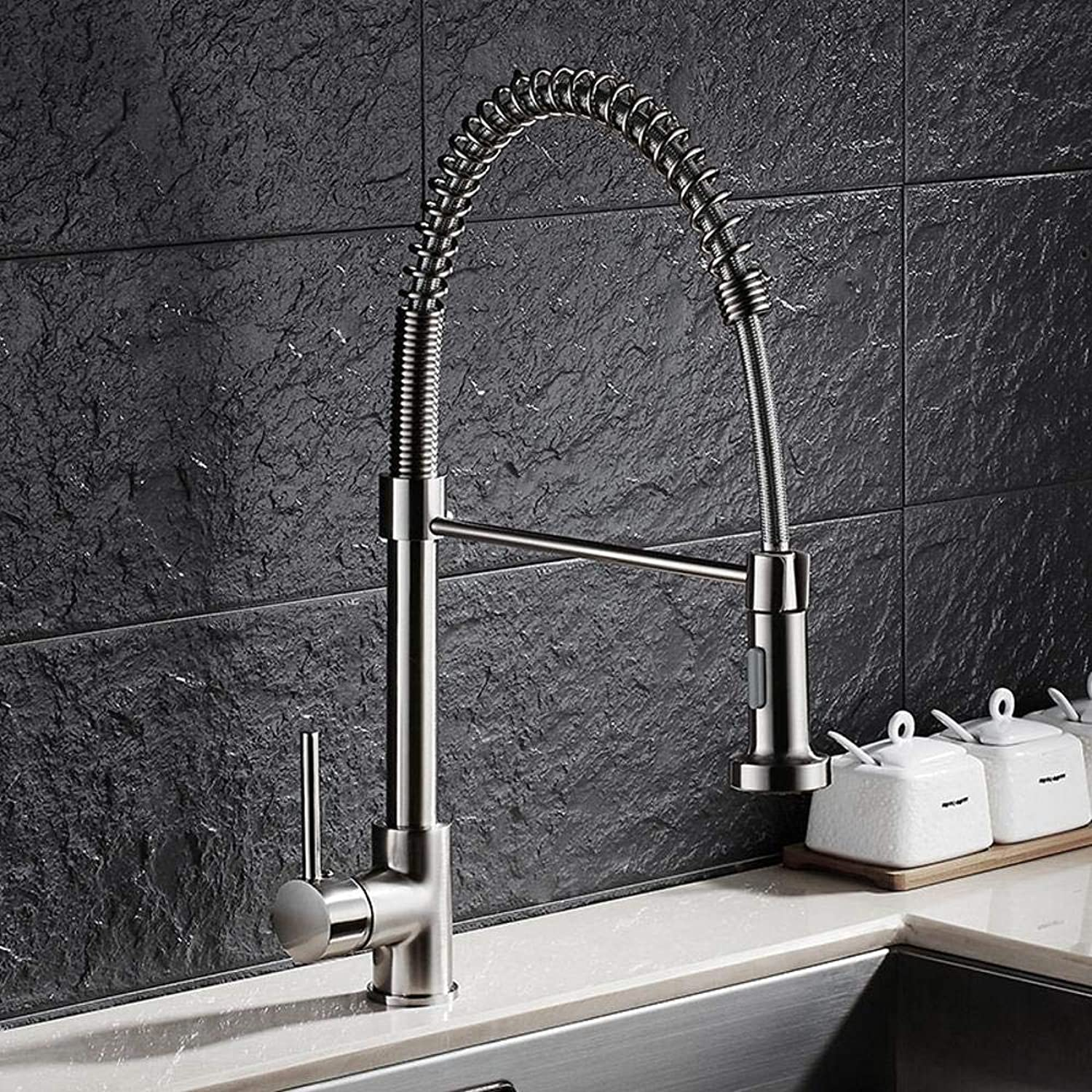 Lxj Tap drawing pull Spring single lever single hole redatable faucet kitchen sink faucet