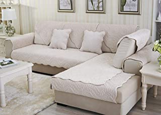WOMACO Sectional Couch Cover L Shape Sofa Slipcover Anit-Slip Cotton Arm Chair Recliner Loveseat Couch Sofa Covers Furnitu...