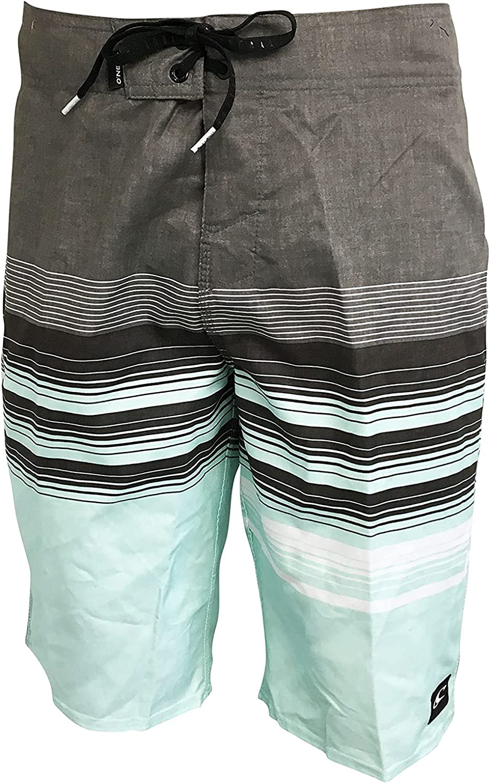 O'NEILL Men's Swim Trunks/Board Shorts 100% Polyester Below The Knee 21