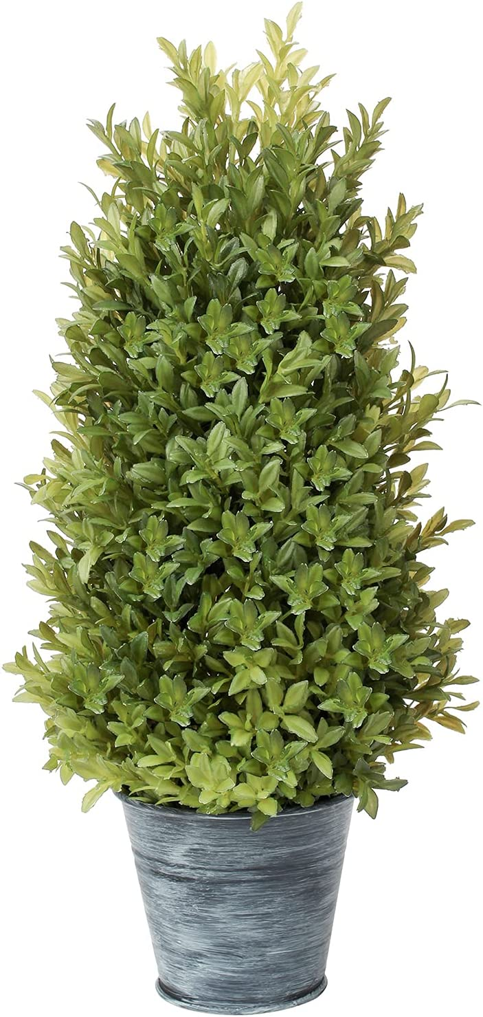 PLANT Our shop OFFers the best service Artificial Fashionable Boxwood Cone Topiary Potted Tree Fake Pla Leave