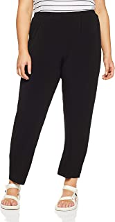 My Size Women's Plus Size Narrow Leg Knit Pant, Black