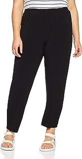 My Size Women's Plus Size Narrow Leg Knit Pant, Black