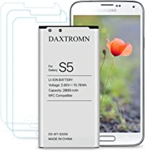 Galaxy S5 Battery, DAXTROMN 2800mAh Replacement Battery for Samsung Galaxy S5 G900V, G900A, G900P, G900T, G900R4, G900A, G900P with Screen Protector [NFC/Google Wallet Capable]