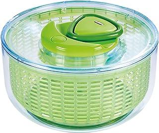 Zyliss Easy Spin-Centrifugador de ensalada (Tamaño pequeño), color verde, Verde, Large