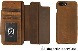 DOC ARTISAN | Classic V5 Wallet | Case for iPhone 6/6S Plus | Distressed Brown