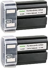 Kastar 2 Pack Replacement Nikon EN-EL1 Li-ion Battery for Nikon Coolpix S60 S80 S205 S200 S210 S220 S500 S510 S520 S570 S600 S700 S3000 S4000 S5100 Digital Cameras