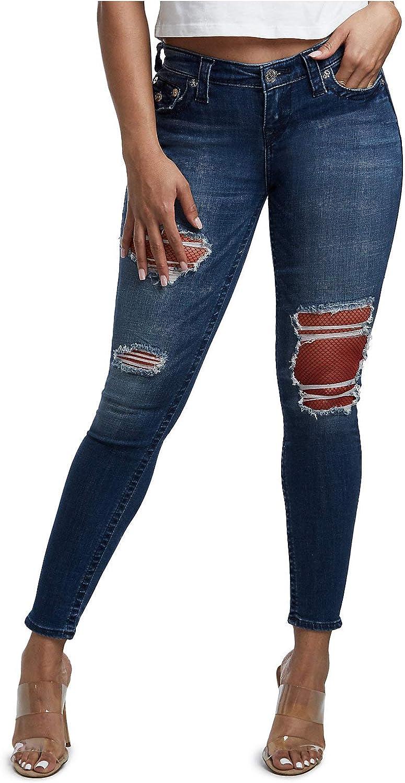 True Religion Women's Popular brand Halle Mid Rise Jean Fit Skinny Super Popularity