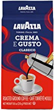 Lavazza Crema e Gusto Ground Coffee Blend, Espresso Dark Roast, 8.8 Oz Bags (Pack of 4)