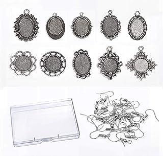 100 pezzi rotondi vuoti lunetta ciondoli vassoi per la fabbricazione di
