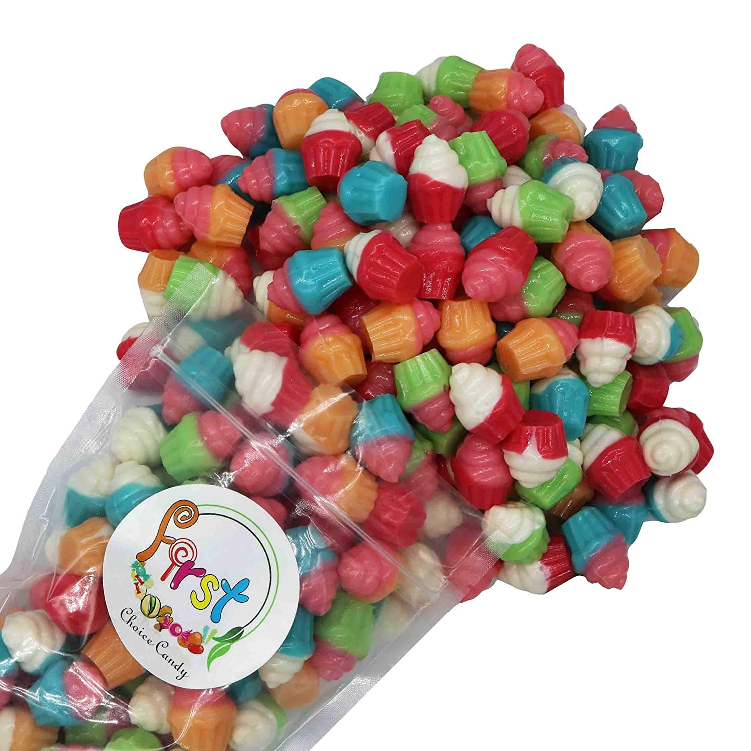 FirstChoiceCandy 3D Assorted Gummy Outlet Special Campaign ☆ Free Shipping Rainbow Juicy Candy Cupcakes