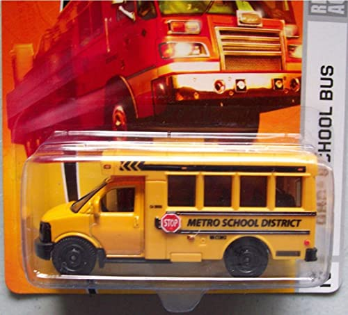 Matchbox City Action GMC School Bus jaune Detailed Diecast  42 Scale 1 64 Collector by Matchbox