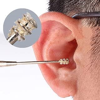 PINKING 耳かき 螺旋 ステンレス耳かき スクリュー 多機能 携帯用に便利 イヤー快適 耳穴マッサージ・耳垢掃除・耳ケア 家庭用・介護用・医療用などにも