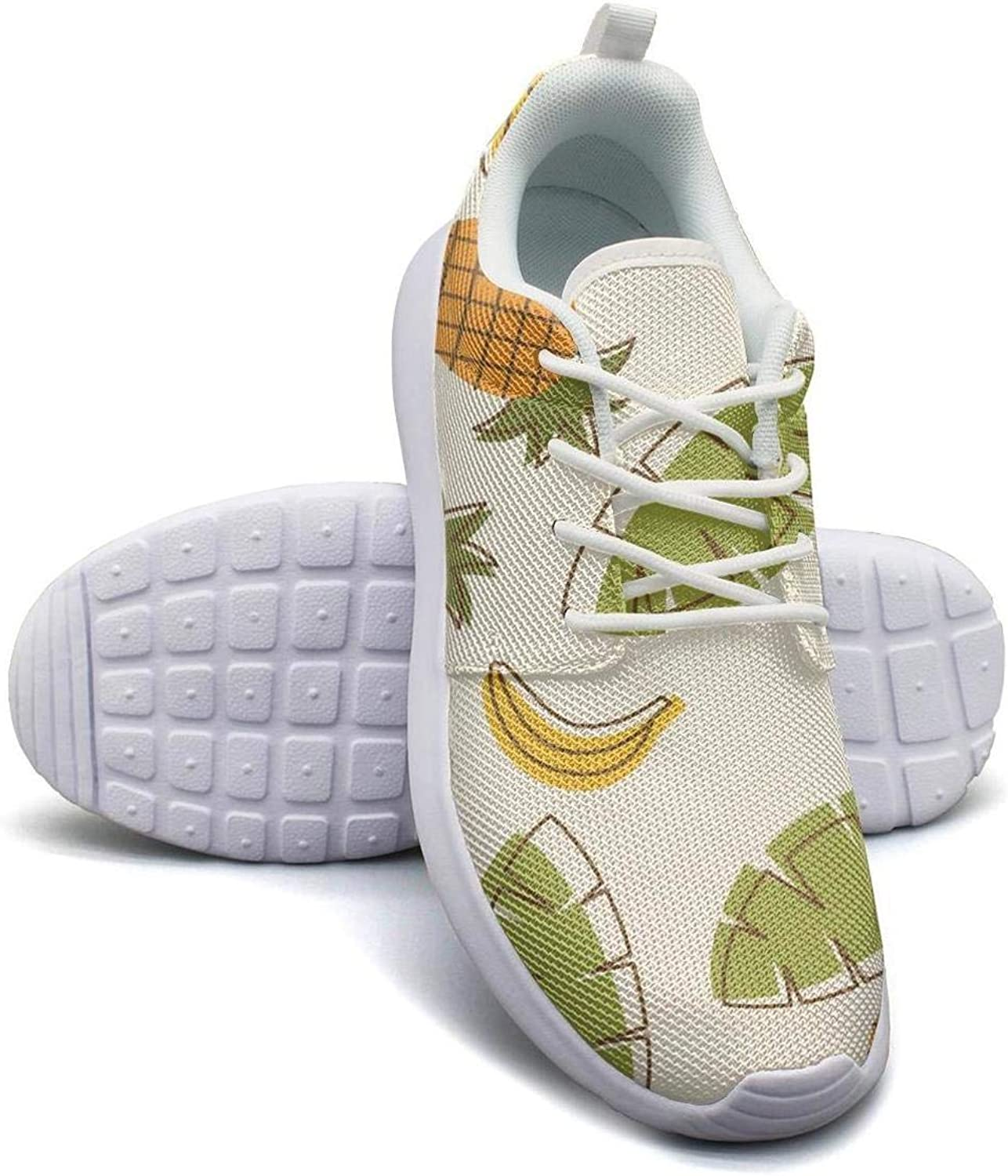 Gjsonmv Pineapple Tropical Fruit mesh Lightweight shoes for Women Casual Sports Badminton Sneakers shoes