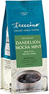 Teeccino Coffee Alternative – Dandelion Mocha Mint – Detox Deliciously with Dandelion Herbal Coffee That's Prebiotic, Caff...