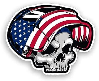 USA American Flag Welder Skull Sticker Hard Hat Toolbox Decal Vinyl Car Cup Cooler Window Bumper Graphic