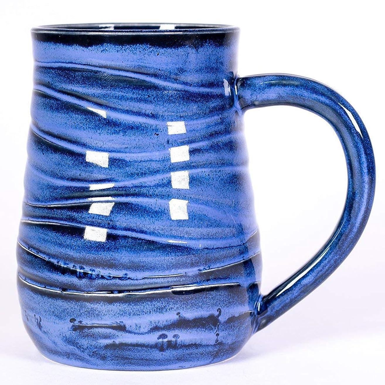 Blue Wave Handmade Pottery mug