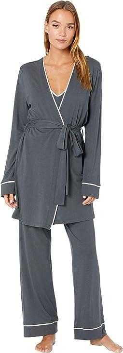Bella Curvy Cami Pants and Robe Set