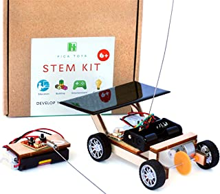 Pica Toys Wooden Solar and Wireless Remote Control Car Robotics Creative Engineering Circuit Science Stem Building Kit - H...