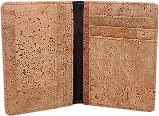 Credit Card Wallet, Boshiho Vegan Cork Wallet Ultra Slim Men Card Case Wallet ID Holder 8 Card Slots (Cork-1)