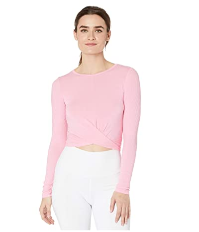 ALO Cover Long Sleeve Top (Macaron Pink) Women