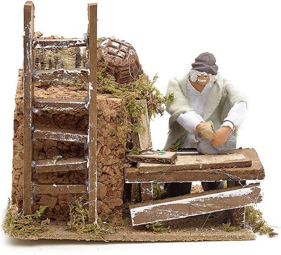 Holyart Animated Nativity Scene Carpenter 8 Challenge the lowest price of Japan ☆ cm Figurine Super sale