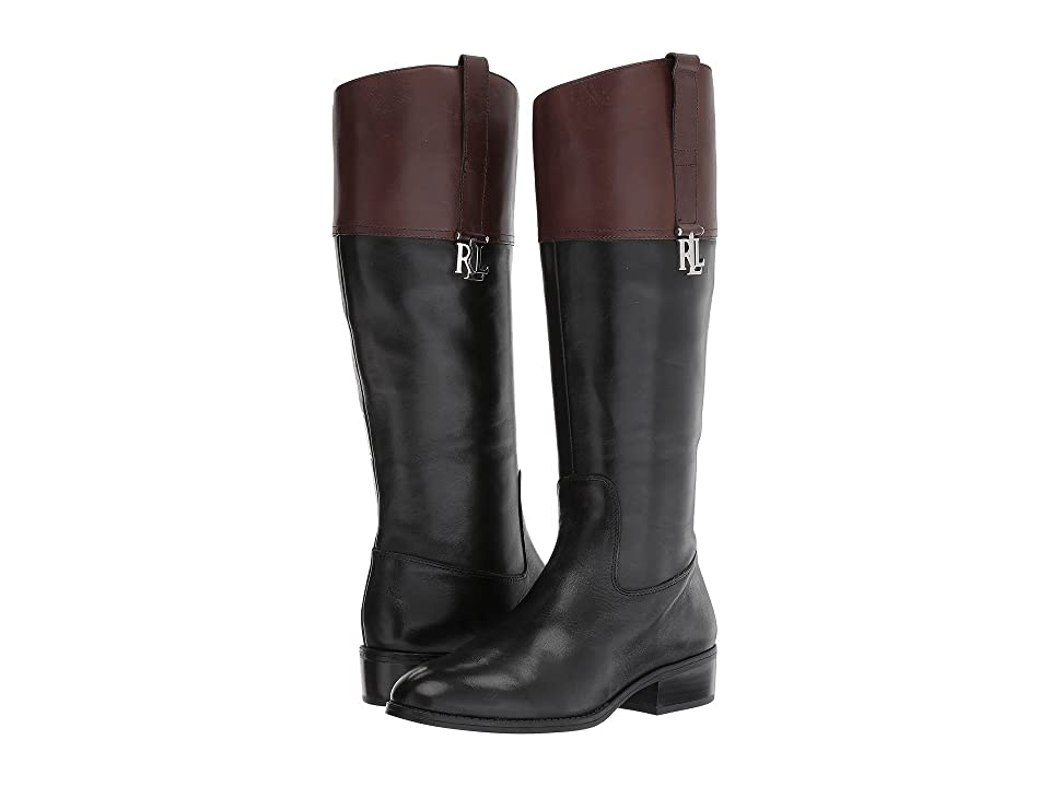 LAUREN Ralph Lauren Merrie (Black/Dark Brown Burnished Calf) Women