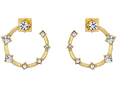 Vince Camuto Wraparound Stone Hoop Earrings (Gold/Crystal) Earring