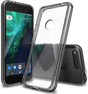 Ringke Fusion Compatible with Google Pixel Case Crystal Clear PC Back TPU Bumper Drop Protection, Shock Absorption Technology Raised Bezels Protective Cover for Google Pixel 2016 - Smoke Black