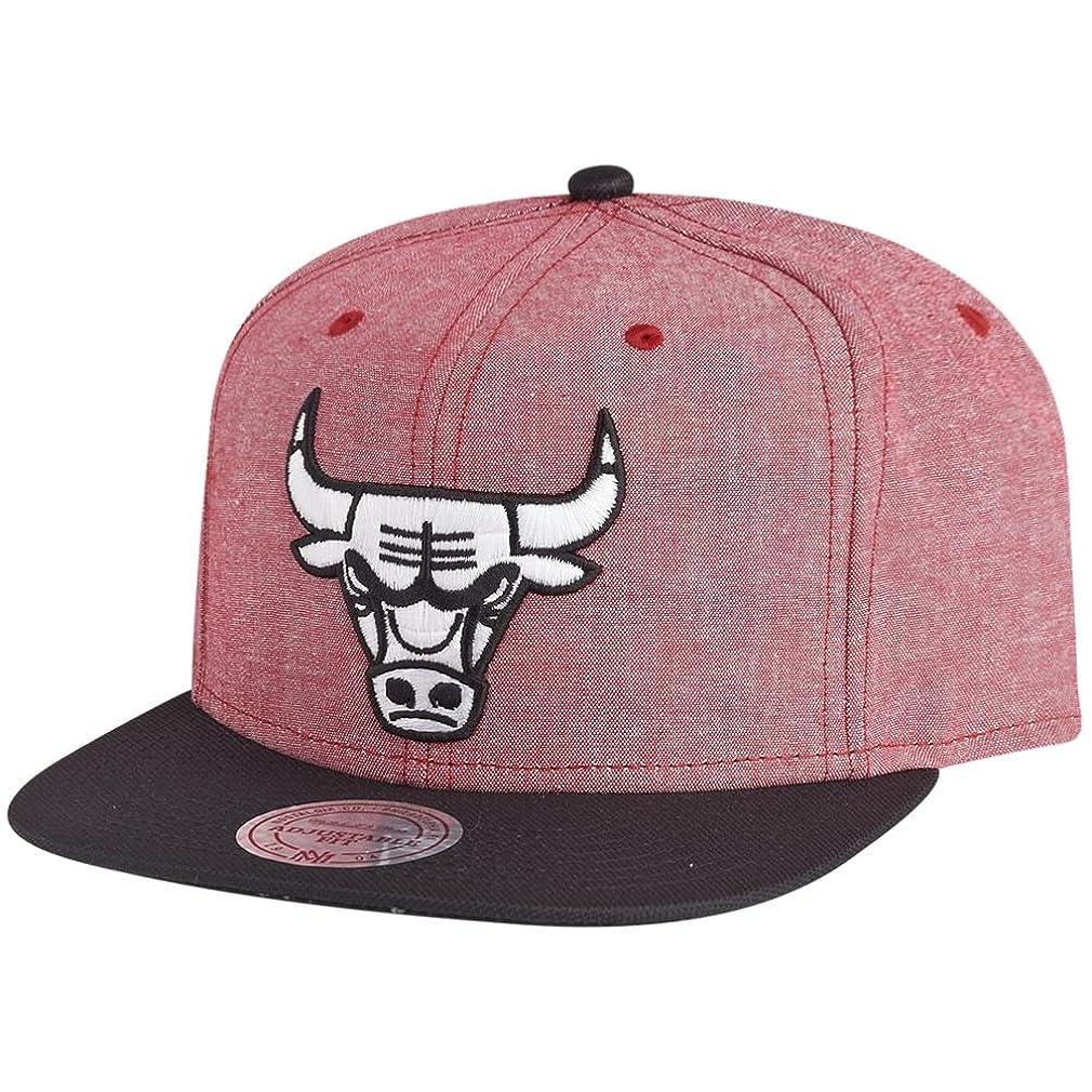 不良価値弓Mitchell & Ness キャップ ? Chicago Bulls Snapback NBA EU362 Isles 赤/ブラック OSFA(ワンサイズは、任意にフィット)